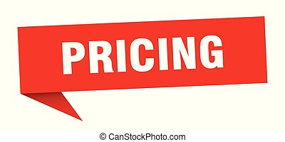 pricing speech bubble. pricing sign. pricing banner