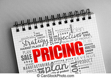 Pricing word cloud collage