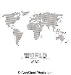 pricken, karta, illustration, vektor, bakgrund, värld, hexagonal, vit