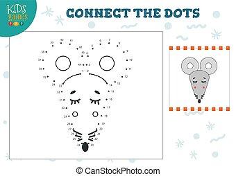 pricken, lurar, illustration., lek, vektor, koppla samman
