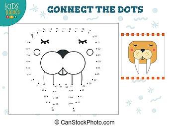 pricken, lurar, illustration, lek, vektor, koppla samman