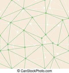 pricken, vävnad, wallpaper., triangel, d, gåva, abstrakt, geometriskt, bakgrund., vektor, grön, tunn, sjal, suitable, grunddrag
