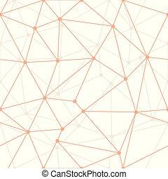 pricken, vävnad, wallpaper., triangel, gåva, apelsin, abstrakt, geometriskt, bakgrund., vektor, tunn, sjal, suitable, grunddrag