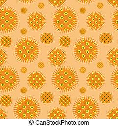 Prickly orange ornament