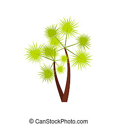 Prickly palm icon, flat style