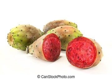 prickly pear - Prickly pears on a white background
