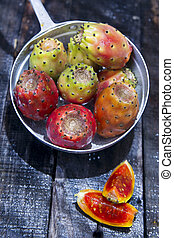 Prickly Pear Ripe - Product Of The Regions With Warm Climate...