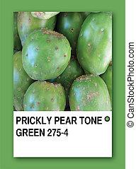 PRICKLY PEAR TONE GREEN. Color sample design