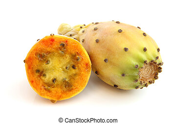 Prickly pears on a white background
