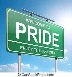 Pride concept. - Illustration depicting a green roadsign...