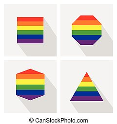 Pride flag stripe color icons