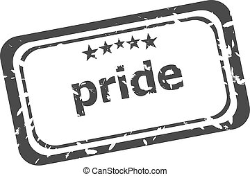 pride grunge rubber stamp isolated on white background