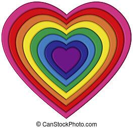 Pride Heart - Heart shaped rainbow flag