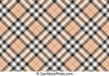 Pride of scotland gold tartan fabric texture diagonal seamless pattern .Vector illustration. EPS 10. No transparency. No gradients.