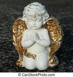 prier, angélique, peu, figurine