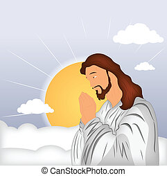 prier, christ, jésus