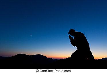 prier, homme