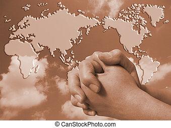 prier, monde