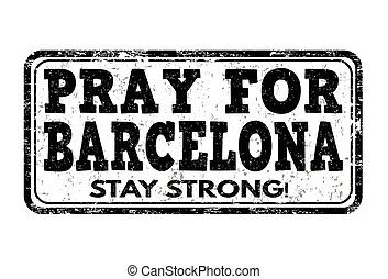 prier, timbre, ou, barcelone, signe