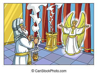priest., άγγελος , appeared, zechariah, chrismas, story.