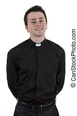A priest, isolated on white