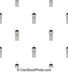 Priest icon in cartoon style isolated on white background. Religion pattern stock vector illustration.