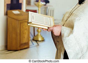 priest in church