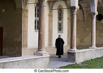 Priest in Italian convent