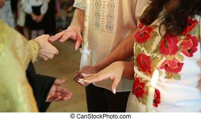 priest in the church wedding dresses wedding brides