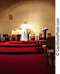 Priest on the altar