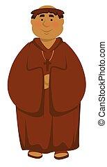 Priest or clergyman church servant deacon isolated Medieval...