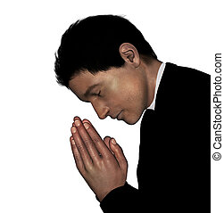 Priest praying.