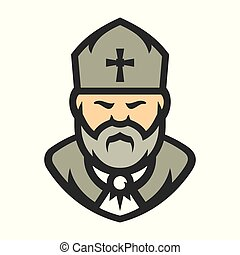 Priest Religion Vector Cartoon illustration. - Church man...