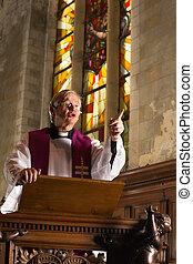 Priest sermon