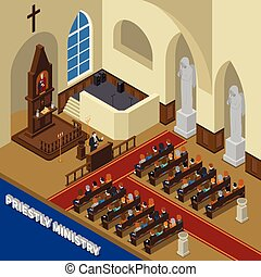 Priestly Ministry Isometric Composition - Priestly ministry...