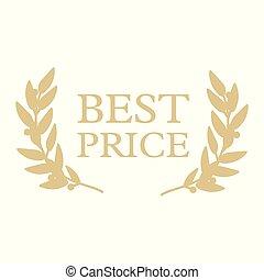 prijs, best, etiket
