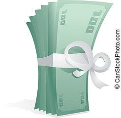 prijs, cadeau, geld, dollar, /, rekeningen