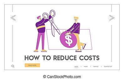 prijs, geneeskunde, kosten, mensen, illustratie, holle weg, dollar., gezondheid, duur, care, stuff., medisch, template., vector, pagina, lineair, diensten, prijs, kosten, mannelijke , reusachtig, karakters, tussenverdieping