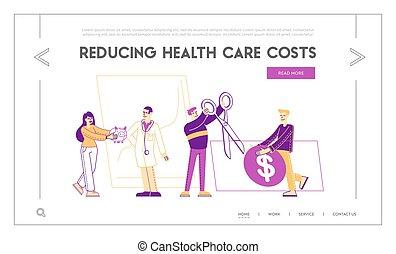 prijs, geneeskunde, mensen, illustratie, kosten, bereikbaarheid, gezondheid, ongeveer, kopen, care, karakters, stuff., remedy., medisch, apotheek, drugs, meldingsbord, template., vector, dollar, pagina, lineair, reusachtig, minuscuul, tussenverdieping