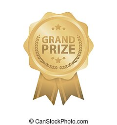 prijs, goud, winnen, illustratie, vector, voornaam, kentekens