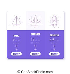 prijs, illustratie, vector, applications., websites, tafel