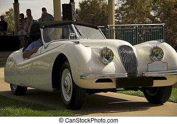 prijs, innemend, brits, luxe, sportautootje