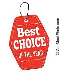 prijs, keuze, label, jaar, etiket, of, best
