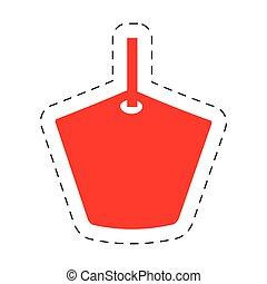 prijs label, bevordering, rood, aanbod