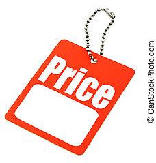 prijs label, met, de ruimte van het exemplaar