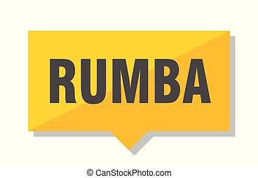 prijs label, rumba