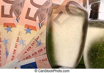 prijs, winnaar, concept, -, eurobiljetten