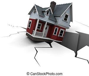 prijzen, eigendom, het dalen