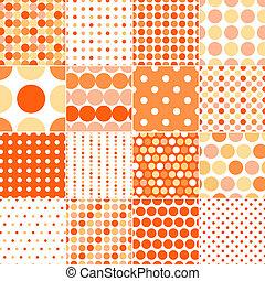 prikker, cirkel, polka, seamless