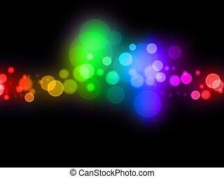prikker, farverig